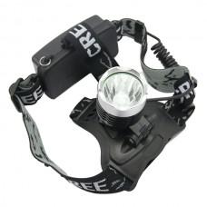 Hot Sell Waterproof 1600 Lumens CREE XML T6 LED High Power Headlamp Rechargeable Headlight
