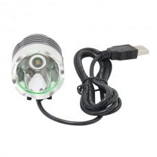 Yellow CREE XML 5V USB T6 LED Headlight Light Headlamp Flashlight Head Lamp Bike Bicycle Light