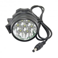 1 SET Super Bright Bike Light 7*Cree XM-L T6 7T6 Bicycle Light 3 Mode 6000LM+ High Power 8x18650 8800mAh Battery Pack