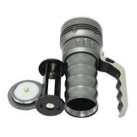 800 Lumens Cree XPG R5 Flashlight LED Glare Long-range Portable Torch Waterproof Flashlight 2*18650 Battery Grey