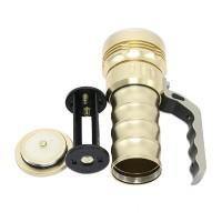 800 Lumens Cree XPG R5 Flashlight LED Glare Long-range Portable Torch Waterproof Flashlight 2*18650 Battery Golden