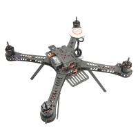 TZT X360 3K Carbon Fiber Mini Quadcopter Aircraft Frame Kit with ESC Motor & Landing skid