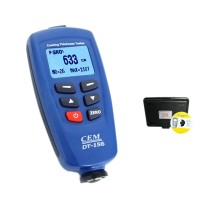 Digital DT-156 Paint Coating Thickness Gauge Meter Tester 0~1250um with Auto F & NF Probe + USB Cable + CD software