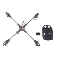 Parrot AR.Drone 2.0 Carbon Fiber RC Quadcopter Helicopter Frame w/ Bottom Bard Fixing Paste