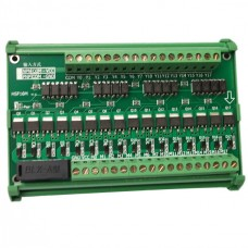 16 Channel Mitsubishi PLC Output Power Amplifier Module w/ Short Circuit Follow Current Protection Photoelectric Isolation