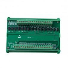 16Channel Simens PLC Output Amplifier Board Photoelectric Isolation Electromagnetic Valve Actuation Module w/ Rail Bracket