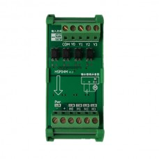 HSF04M 4 Band PLC Amplifier Board Magnetic Valve Driver Module w/Guide Rail Holder Mitsubishi Omron Siemens