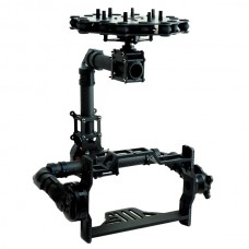 DSLR Carbon Fiber Aerial 3 Axis Brushless Camera Gimbal + 3pcs Motor Run Movie