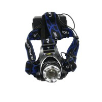 204 Back SwitchQuality Adjustable Soft Fastener Headband Head Strap for Bicycle Headlamp Headlight