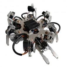 Aluminium Hexapod Robotics Spider Six 6DOF Biped Robot Frame Kit with Clamper Gripper