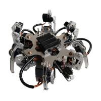 Aluminium Hexapod Robotics Spider 6DOF Biped Robot Frame Kit w/ 24CH Controller Servo Receiver