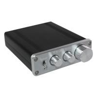 FeiXiang FX-502E 2 x 68W 2 Channel Digital Amplifier LM1036 Tone TDA7498L - Black + Silver