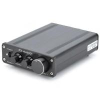 FeiXiang FX-502E 2 x 68W 2 Channel Digital Amplifier LM1036 Tone TDA7498L Amp- Black