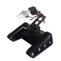Black Robo-Soul TK-6A Car Creeper Truck Crawler RC Robot Base Kit w/ 6DOF Robot Arm MG1501 Servo