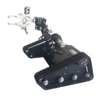 Robo-Soul TK-400 Creeper Truck Chassis Crawler RC Robot Base Kit w/ 4DOF Camera PTZ MG996R Servo