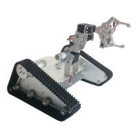 White Robot-Soul TK-400 Creeper Truck Chassis Crawler RC Robot Base Kit w/ 4DOF Camera PTZ LD-1501MG Servo