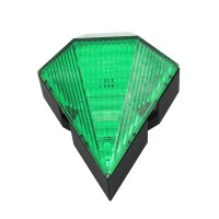 Green Cycling Bike Bicycle Diamond 8 LED Tail Light Rear 2 Laser Lamp Waterproof