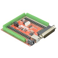 6 Axis CNC Stepper Motor Driver Breakout Board USB MACH3 USBCNC Interface Board w/ Controller for CNC Engraving Machine