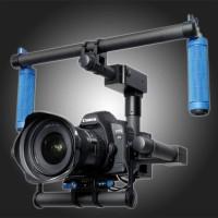 TZT Handheld Carbon Fiber 2 Axis Gimbal Handle W/ Motor for DSLR Camera 5D2 5D3 D800