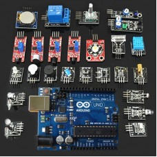 Arduino Kits Sensor Combo 24 Types Starter Level Sensors Including ARDUINO Super Excellent Develop Board