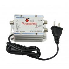 SB-8620D6 2 way CATV Signal Amplifer Sat Cable TV Signal Amplifier Splitter Booster CATV 20DB