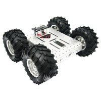 4WD Aluminum Mobile Robot Platform Educational Car Chassis Vehicles for Competition