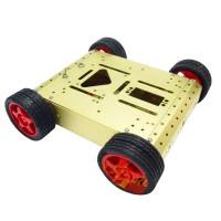 4WD Drive Aluminum Mobile Robot Car Chassis Arduino Platform Golden