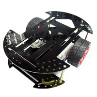 2WD Rubber Wheel Light Weight Mobile Car Chassis Robot Mobile Platform