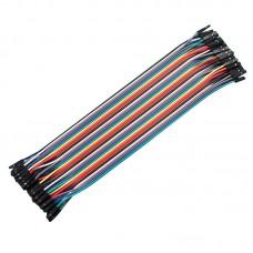 5PCS 40P Color Dupont Line Winding Displacement Dual Head 1P to 1P Plastic Cover 20cm 40 Lines