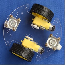 2WD V8 Smart Car Chassis Detection Obstacle Avoidance Remote Control Kit w/ Velocity Measurement