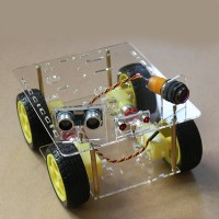 4WD V14 Smart Car Round Chassis Kits Dia 13CM Tracking Obstacle Avoidance Remote Control for Competition