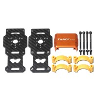 TL96026-02 Dia 25MM Carbon Fiber Motor Mounting Base Tube Fixture for DIY Hexa Octa Multi-rotor Aircraft Orange