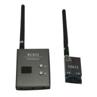 FPV 5.8G A/V 32Ch Transmitting (TX) Module TS832+ RC832 Receiver (RX) W/ LED Channel Display 32CH RP-SMA RC832