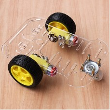 2WD V50 Smart Car Chassis Kit Tracking Encoder Disc Remote Controller Obstacles Avoidance for Competition