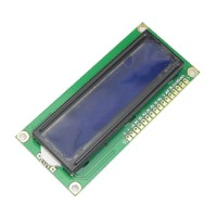 Blue Screen 1602A LCD Blue Display Module 5V White Font w/ Back Light Light Weight