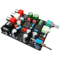 Digital Decode Board Optical Fiber Coaxial DAC TDA1305 Decoding Board w/ Amp Output Plug Hole