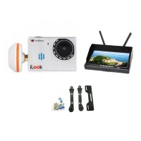 Walkera FPV iLook Camera with Boscam RX LCD5802 Monitor & Carbon Fiber Holder