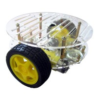 RT-4 Smart Car Chassis Robot Tracking Obstacle Avoidance Code Disc Strong Magnetic Motor (RT-4 Smart Car Chassis+Motor Driver+ Dual Speed Detecting Code Disc)