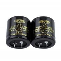 NOVER 10000UF/50V Audio Grade Power Capacitor (30*45MM) 10000uF 50VDC 85degree Negative Black