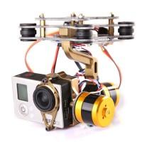 FPV GOPRO3 Carbon Fiber Free Debugging Brushless Gimbal for DJI Phantom Multicopter Quadcopter Golden