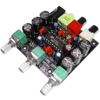 DC 9-24V XR1075 BBE Tone Adjustment Board 2Channel Bass/Treble/Volume Controller