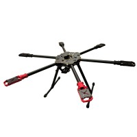 HML S680 Hummingbird Quick Install Carbon Fiber Folding Portable Hexacopter Frame Kit Surpass 650 XA650