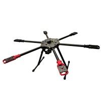HML S680 Hummingbird Quick Install Carbon Fiber Folding Portable Hexacopter Frame Kit Surpass 650 XA650