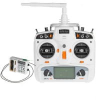 Walkera Devo10 2.4Ghz 10CH RC Controller Transmitter 2KM RX1002 Receiver White S (Battery not Included)