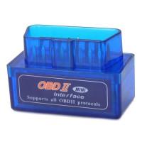 Super Mini ELM327 v1.5 OBD2 OBDII Bluetooth Adapter Auto Scanner TORQUE ANDROID Blue