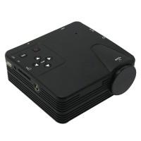 H100TV Mini Multimedia LED Projectors Home Cinema Projetor VGA/AV/USB/SD/HDMI/TV China Projector Black