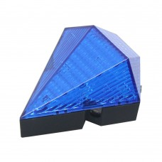 Blue Cycling Bike Bicycle Diamond 8 LED Tail Light Rear 2 Laser Lamp Waterproof