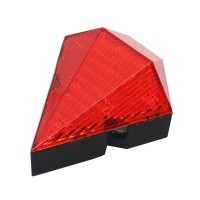 Red Cycling Bike Bicycle Diamond 8 LED Tail Light Rear 2 Laser Lamp Waterproof