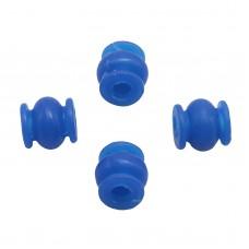 Round High Effeciency Anti-vibration Rubber Ball Damper Ball for Camera Gimbal FPV Blue 4pcs/lot