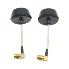 90 Degree High Precision 5.8 GHz 5945MHz Ch8 Circular Polarized Antenna Pair - SMA Plug